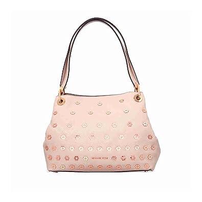 d8d09b19c76e Michael Kors Bristol Raven Large Leather Shoulder Bag- Pink: Amazon.in:  Shoes & Handbags
