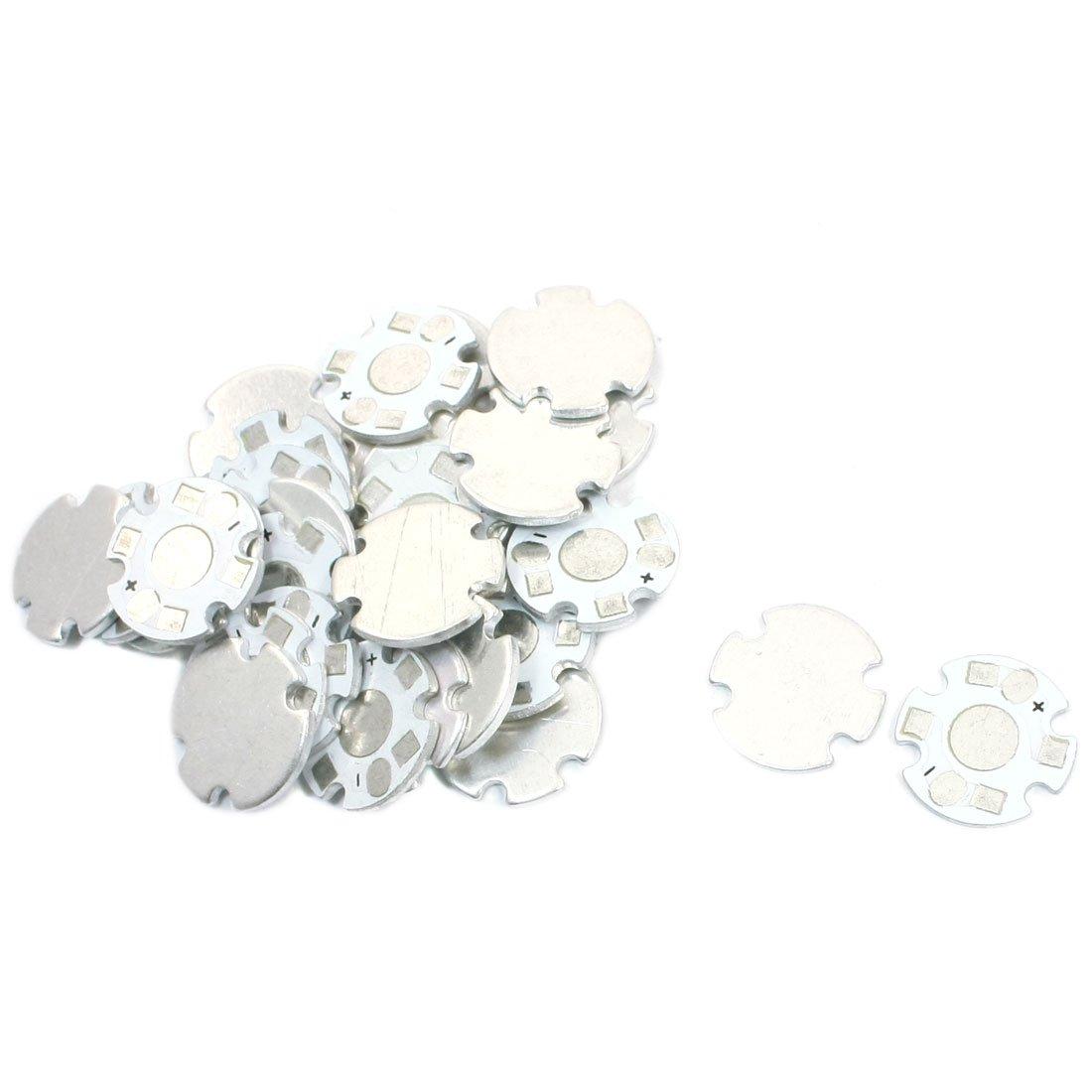 30 Stü ck Aluminium Teller DIY PCB 16 mm Dia fü r 1 x 1 W/3 W High Power LED Sourcingmap a14050700ux0197