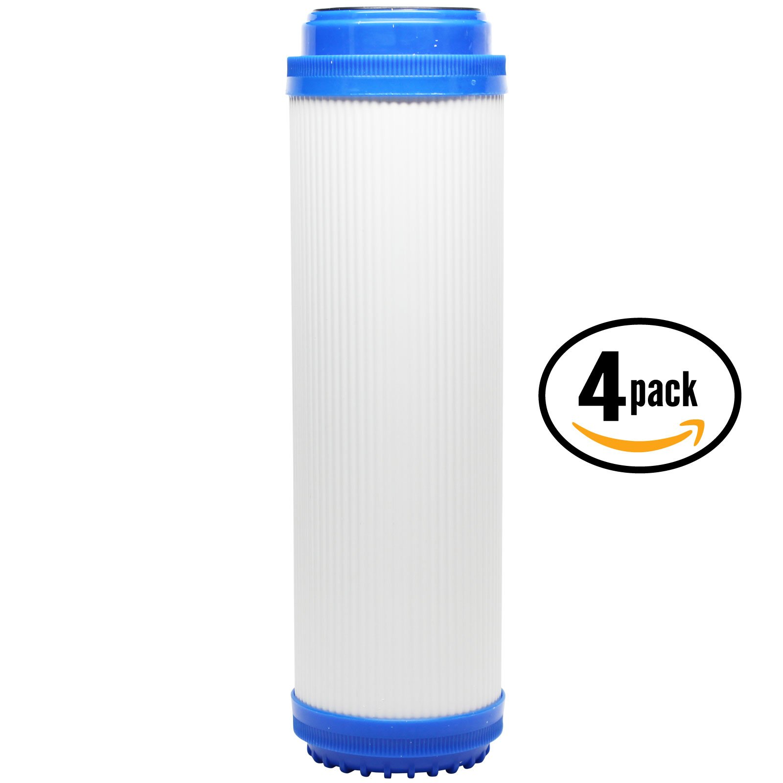 4-Pack Replacement 3M Aqua-Pure SS8 EPE-316L Granular Activated Carbon Filter - Universal 10-inch Cartridge for 3M Aqua-Pure Whole House Stainless Steel Filter Housing - Denali Pure Brand