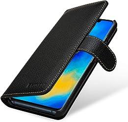 StilGut Housse pour Huawei Mate 20 Pro Porte-Cartes en Cuir, Noir
