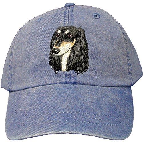 (Cherrybrook Dog Breed Embroidered Adams Cotton Twill Caps - Royal Blue -)