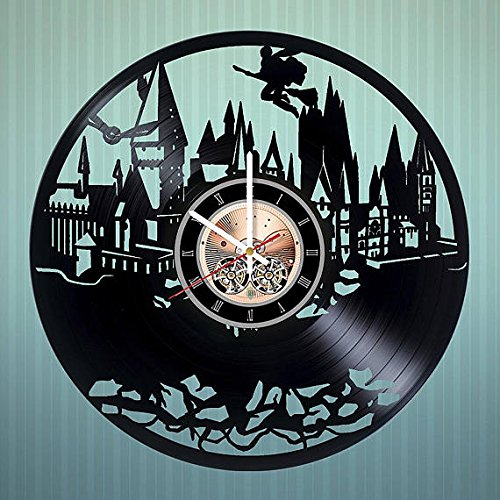 Harry Potter Hogwarts Design Vinyl Wall Clock – handmade gift for any occasion – unique birthday, wedding, anniversary, Valentine's day gifts - Wall décor Ideas for any - Own Harry Make Potter Your Robe