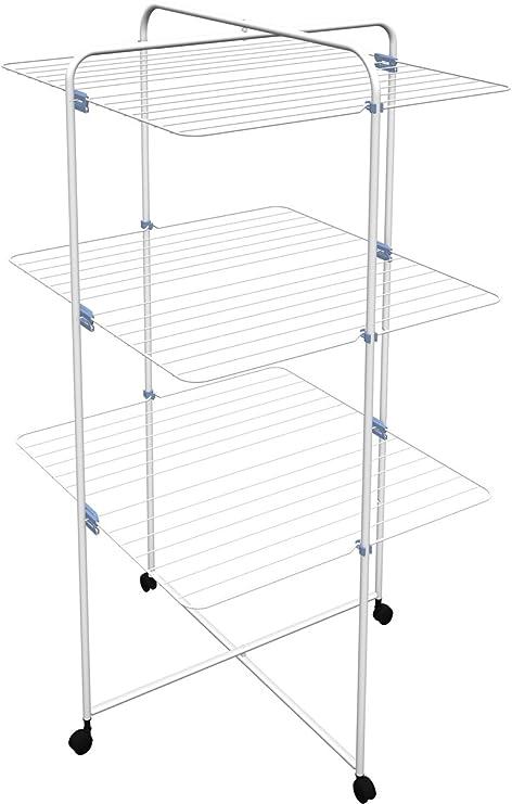Amazon.com: GIMI Linear 3 Tower - Secador de ropa (acero ...