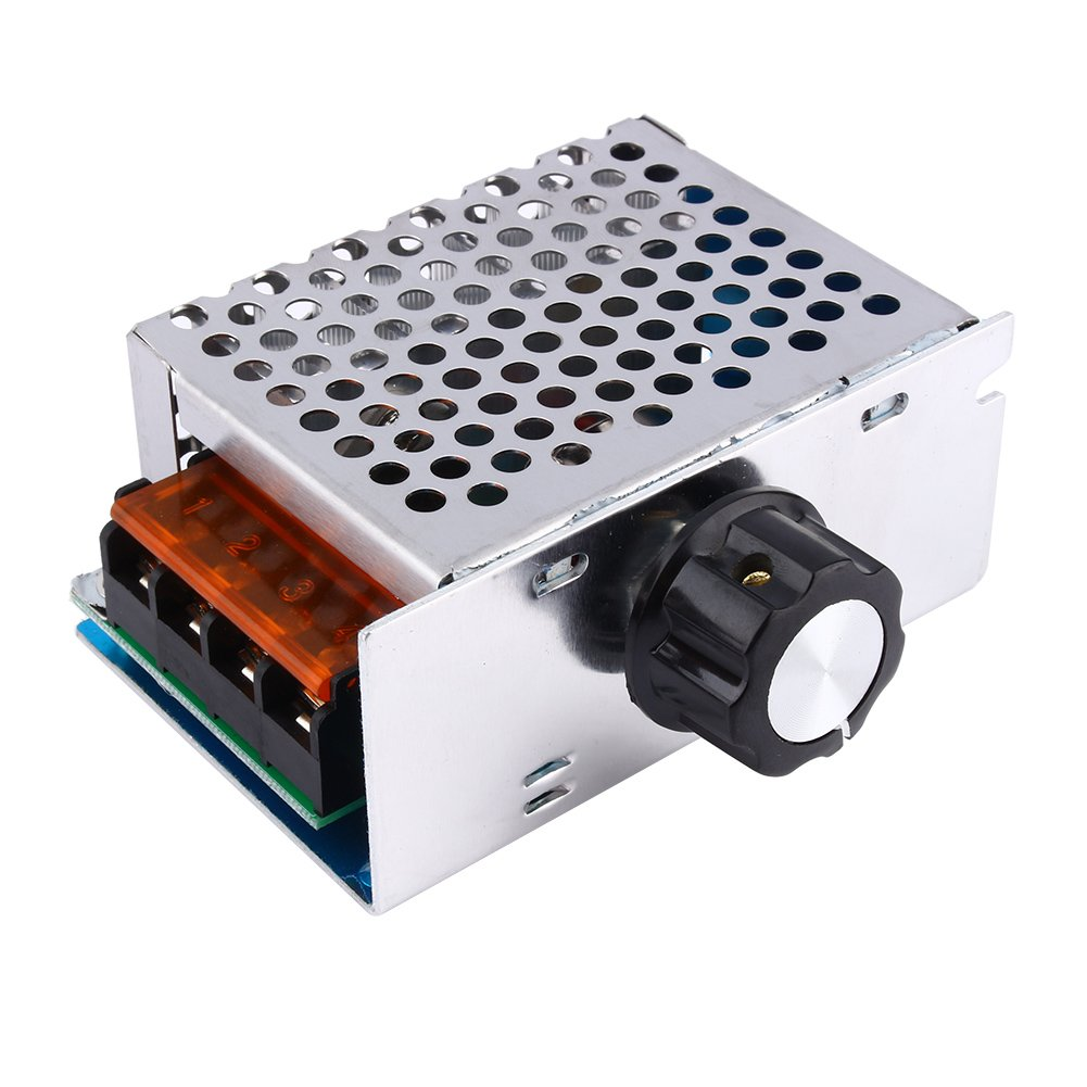High Power 4000W 220V AC SCR Voltage Regulator Motor Speed Controller Electric Adjustable Speed Controller by Wal front (Image #2)