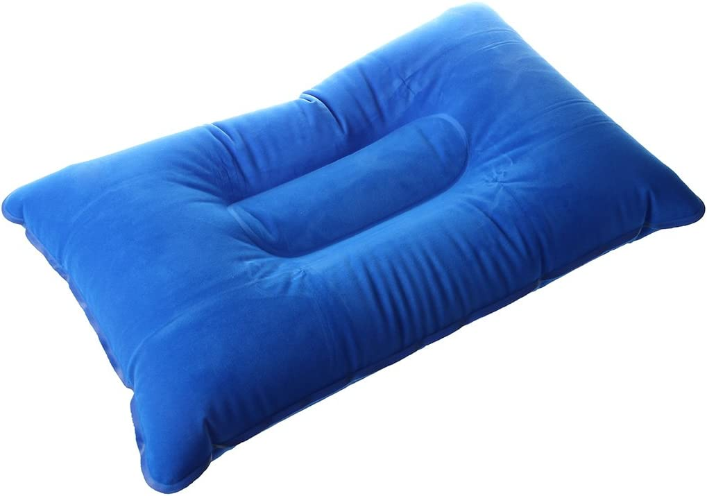 Oreiller Gonflable Mat Coussin pour Camping Pique-Nique Bleu 40 * 25cm TOOGOO Double Face R