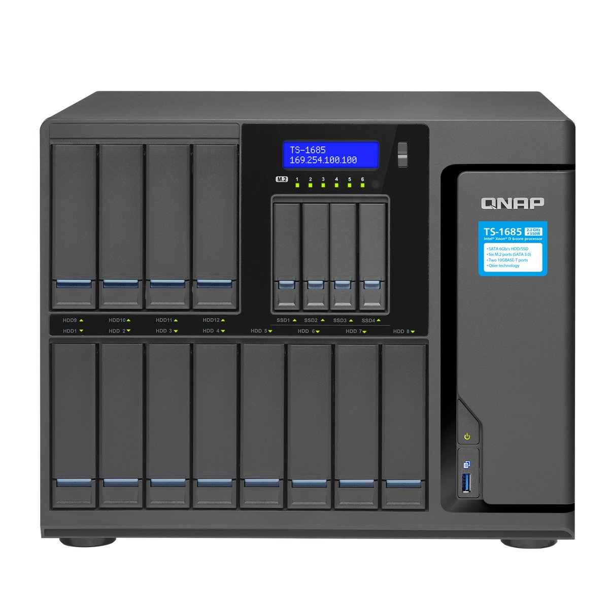 Qnap TS-1685-D1531-64G-US 12 Bay High-Capacity 10GbE iSCSI NAS by QNAP