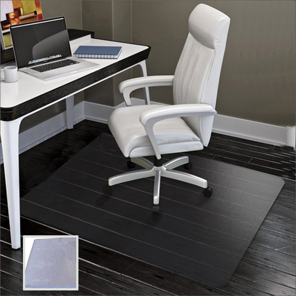 Large Office Chair Mat for Hard Floors - 59''×47'',Heavy Duty Clear Wood/Tile Floor Protector PVC Transparent by SHAREWIN by SHAREWIN