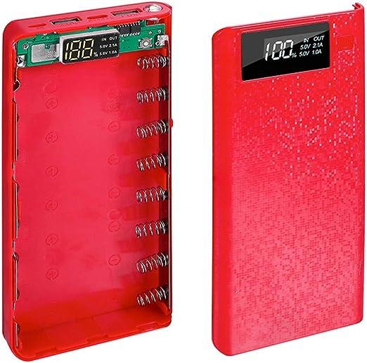 Adaptador de Corriente USB Dual DIY Power Bank Box Holder Cargador de Caja para Tableta de teléfono Inteligente (sin batería): Amazon.es: Hogar
