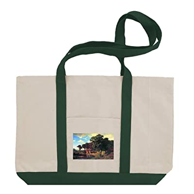 A Rustic Mill (Bierstadt) Cotton Canvas Boat Tote Bag Tote