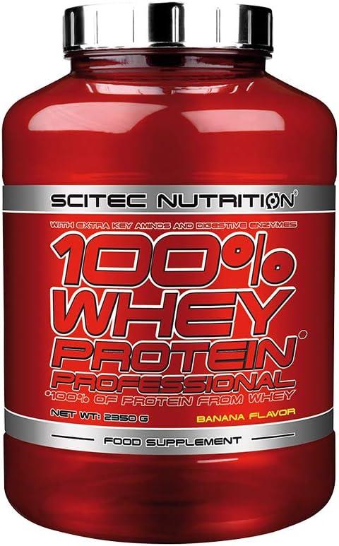 Scitec Nutrition 100% Whey Protein Professional 2350g 1 paquete de proteína de suero de leche en polvo en polvo (Vanilla)