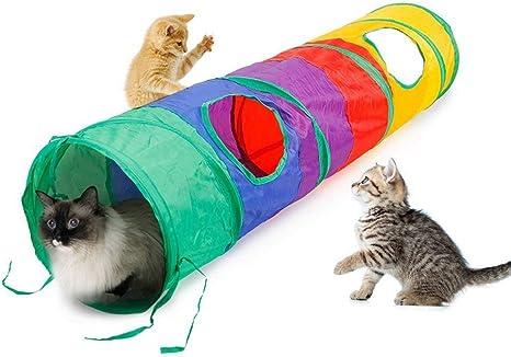 WYYZSS Túnel para Gatos,Tubo Plegable para Mascotas,Juguetes para Jugar,para Interiores de Gatitos y Gatitos al Aire Libre,Aptos para Todo Tipo de Animales pequeños: Amazon.es: Deportes y aire libre