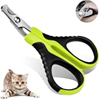 VICTHY Cat Nail Clippers Claw Trimmer Small Pets Paw Scissors for Professional Home Grooming Tool 135°angled blades Sharp Durable Stainless Steel Razor Non-Slip Handle Semi-circular Safty Guard avoid Overcutting Reduce Injury for Puppy Cat Bunny Rabbit Bird Puppy Kitten Ferret