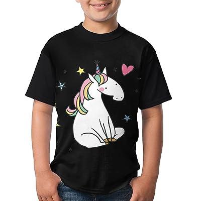 Teenager Boring Unicorn Short Sleeve Shirts Fashion Design 3D Printed T-Shirt Casual Blouse