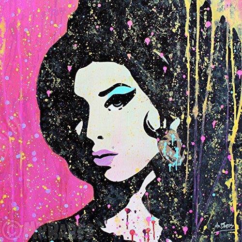 MR.BABES -Amy Winehouse - Original Pop Art Painting - Music Celebrity Portrait