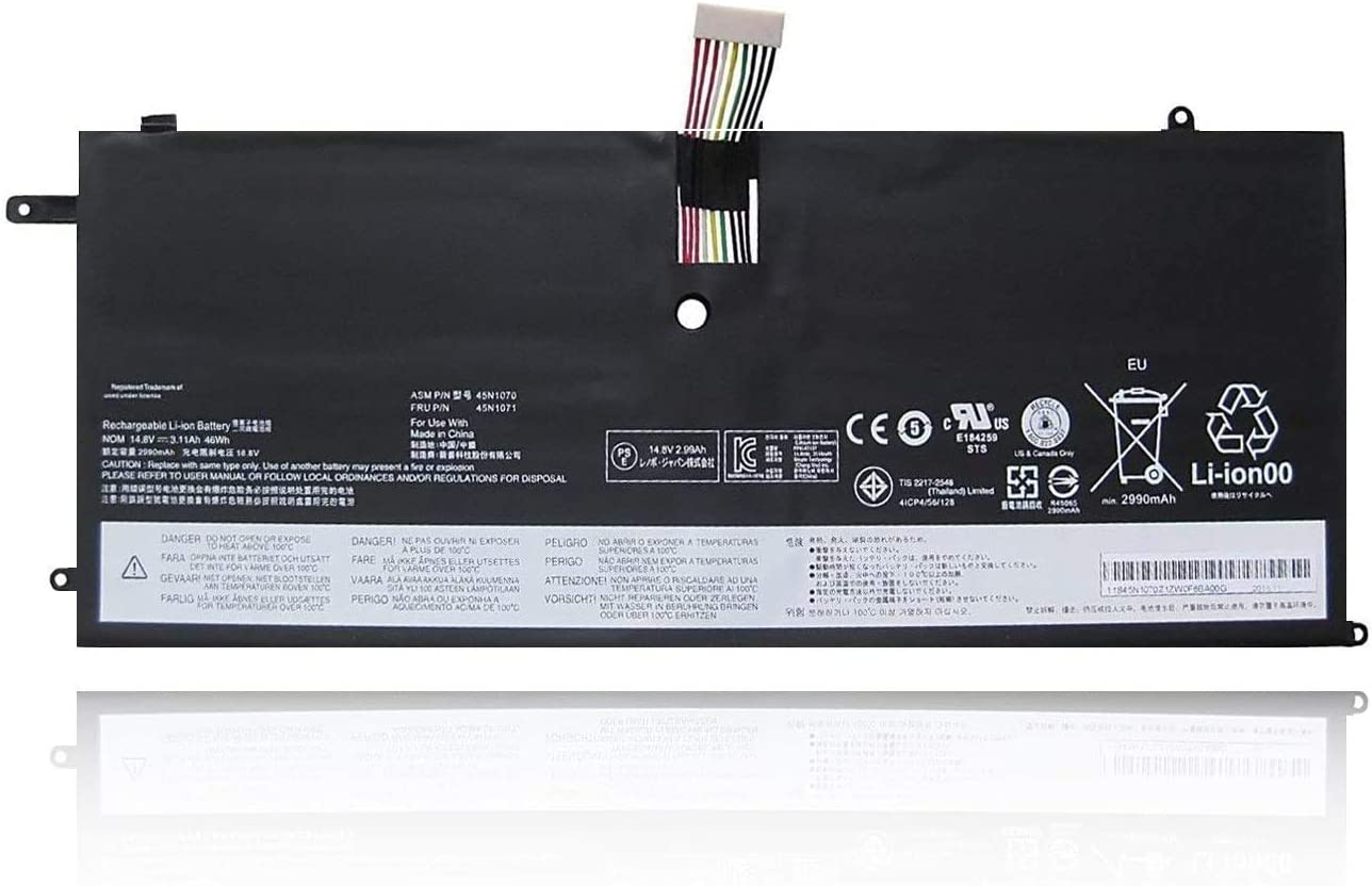 FLIW 45N1070 Replacement Battery Compatible with Lenovo ThinkPad X1 Carbon 3444 3448 3460 X1C ASM 45N1070 45N1071 14.8V 3110mAh 46Wh