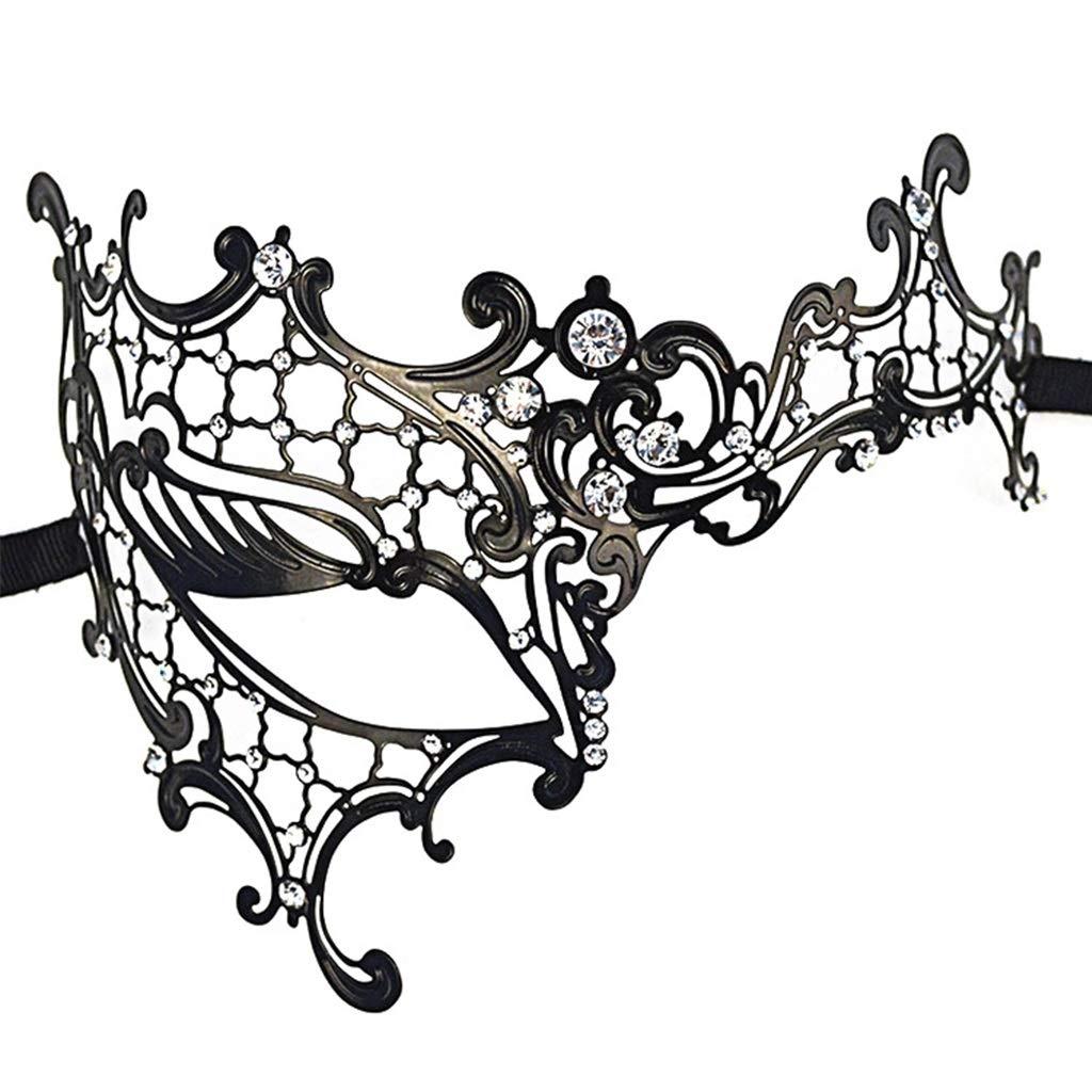 12cm Colore : A Mascherina Mezza di Cosplay del Partito del Vestito Operato 20 Uus Mascherina del Metallo di Halloween