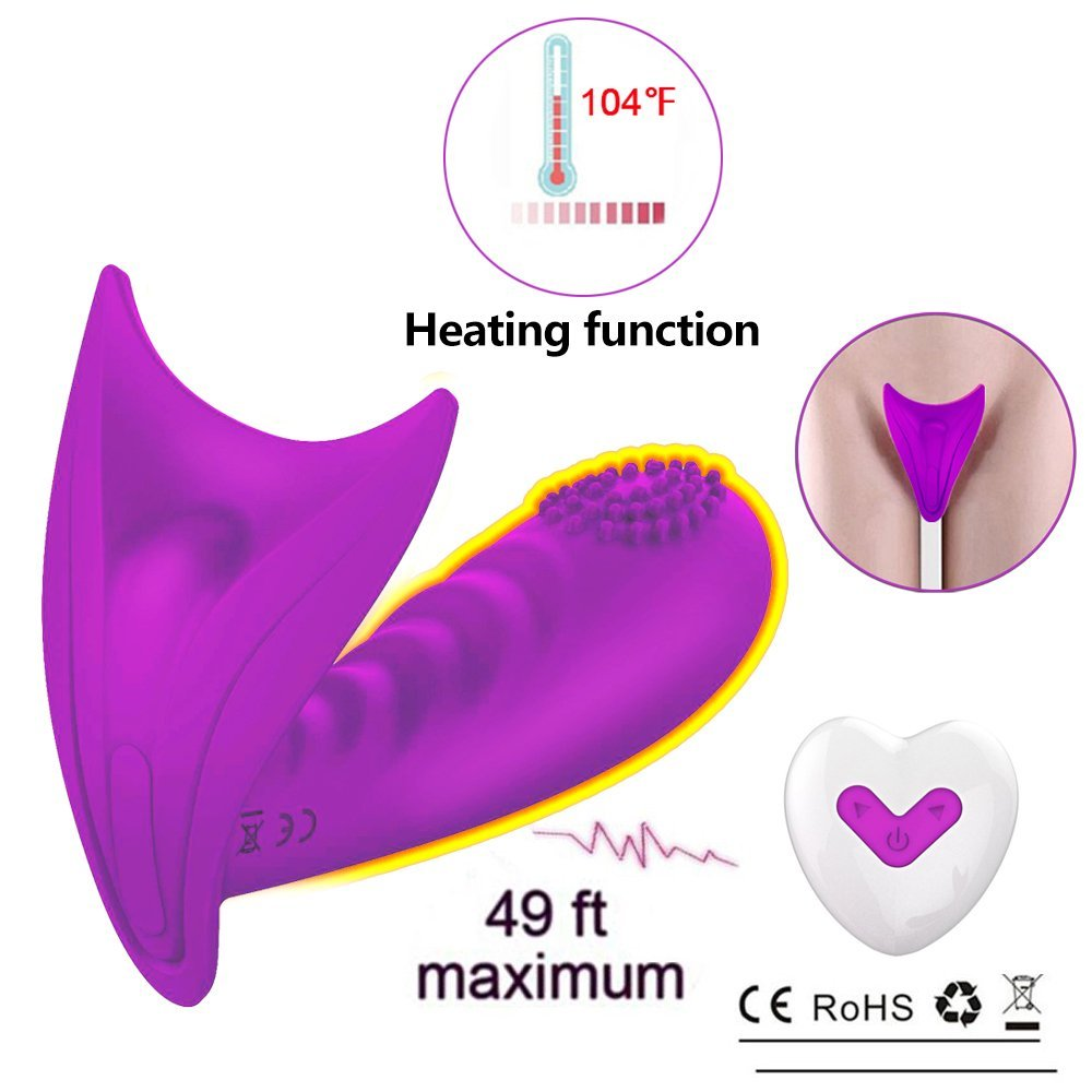 Wearable Heating Remote Control G Spot Egg Vibrator,Clitoral Clit Dildo Silicone Vibrators for Women,Rechargeable Waterproof Clitoral G Spotter Stimulator,Adult Sex Toys for Women and Couples
