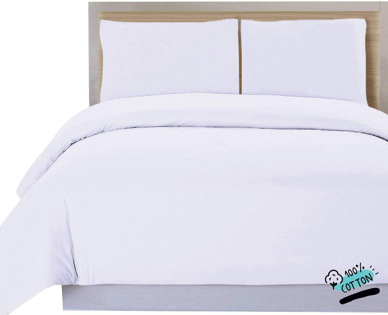 DHestia Hostelería - Funda Nórdica para Edredón Blanca Hotel 100% Algodón Natural (230x240 cm - Cama 135)
