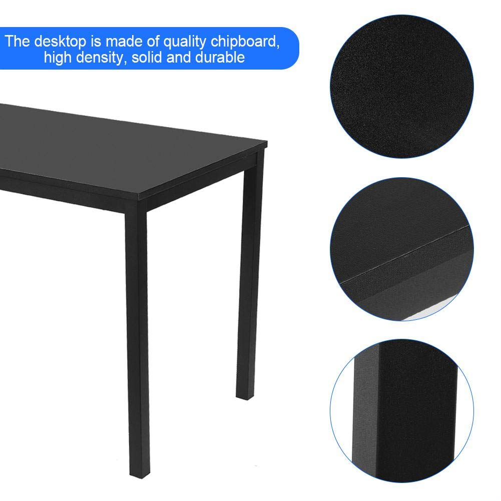 EBTOOLS Computertisch 120 x 76 x 60 cm Concise Black Computertisch Schreibtische Lerntisch B/ürotisch f/ür Heim und B/üro