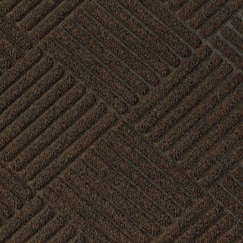 Waterhog Premier Fashion Dark Brown 4' x 8' Entrance Mat - Smooth Back, Fabric (Waterhog Fashion Diamond Mat)