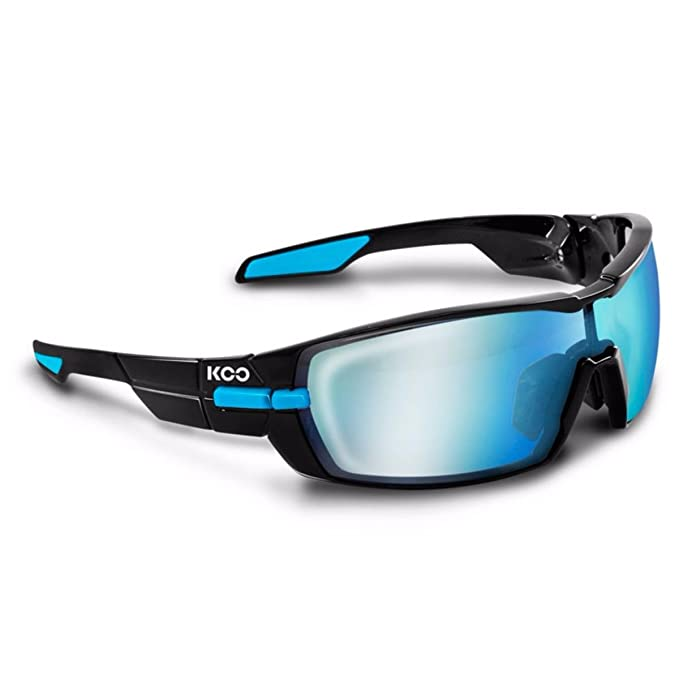 Kask Koo Sonnenbrille inkl. 2 Gläser Bluesky und Clear Schwarz/Hellblau 2017 Fahrradbrille yx75ymcy