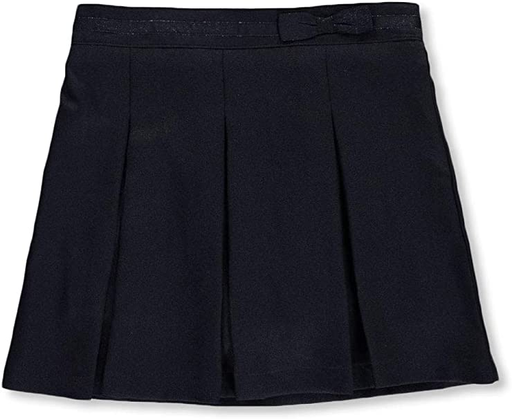 Nautica Girls School Uniform Glitter Bow Scooter Skirt