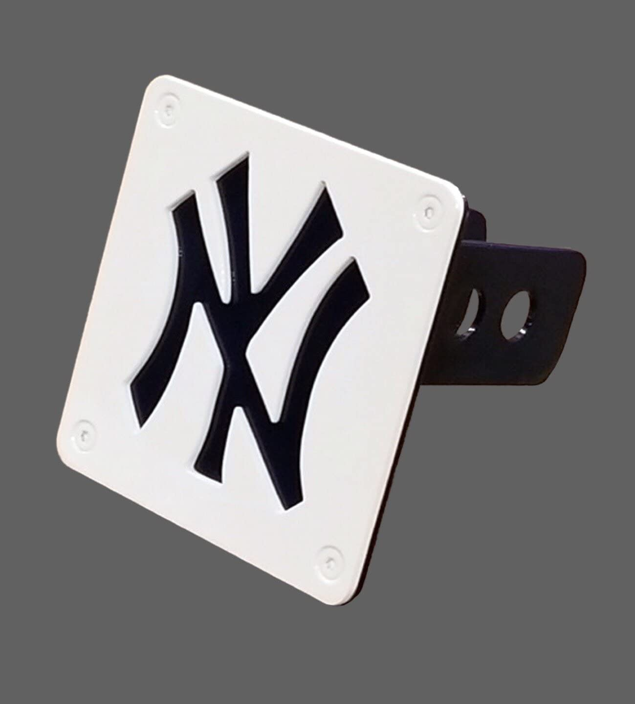 New York Yankees Premium Solid Metal Color Chrome Hitch Cover Bumper Baseball