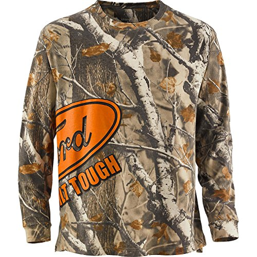Legendary Whitetails Mens Trucked Up Long Sleeve Tee Ford Large - Exclusive Print Jersey