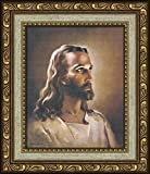 Sallman Classic Christian Art Head of Christ Print Framed with Easel for Standing Gift
