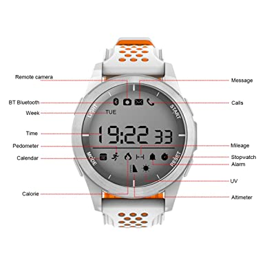 Amazon.com: QIMAOO Outdoor Sport Watch Bluetooth Waterproof ...