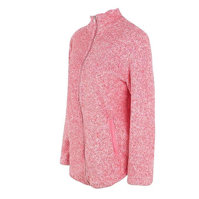 Linlink Promocion Abrigo de Las señoras Mujeres mullidas Felpa cálido Invierno Puro Color Capa Jumper Abrigo Chaqueta Outwear: Amazon.es: Ropa y accesorios