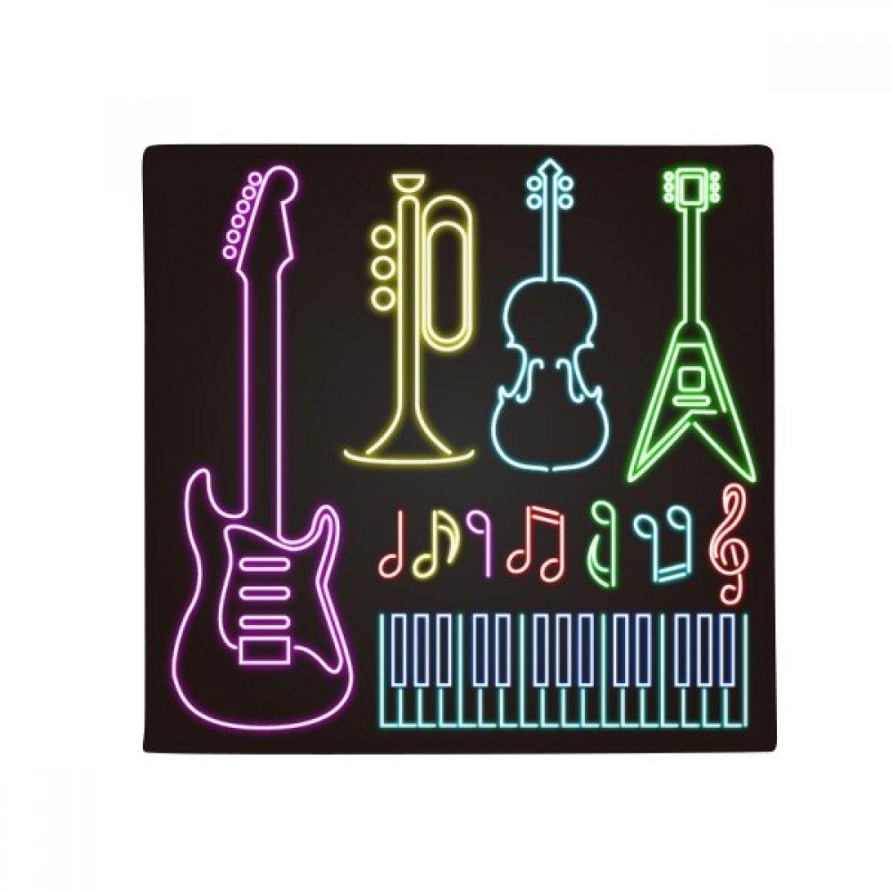 DIYthinker Guitar Music Instruments Neon Anti-Slip Floor Pet Mat Square Home Kitchen Door 80Cm Gift