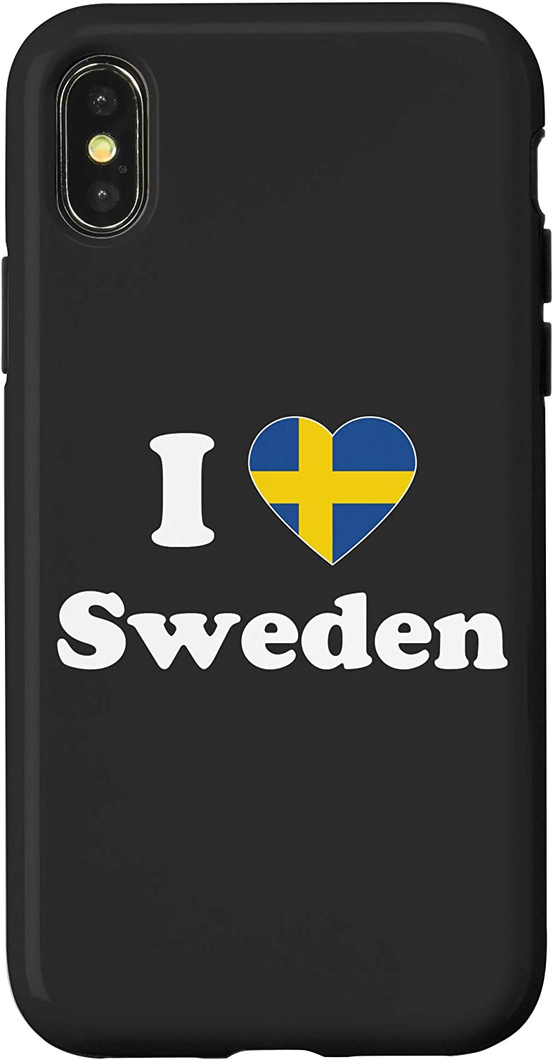 Amazon Com Iphone 7 Plus 8 Plus I Love Sweden Gift Love Sverige Swedish Roots Case
