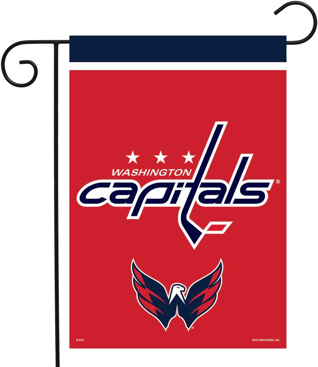 "Sparo Washington Capitals Garden Flag Hockey Licensed 12.5"" x 18"""