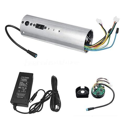 mxjeeio 💖 Cargador de batería Compatible para Patinete Scooter Ninebot ES1 ES2 ES3 ES4 Adaptador 42 V 1.7A para Ninebot Battery Charger con Tablero de ...