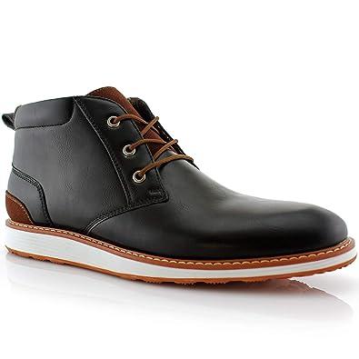 a5744ebe63 Image not available for. Color: Ferro Aldo Houstan MFA506031 Mens Memory  Foam Casual Chukka Mid-Top Sneaker Boots - Black