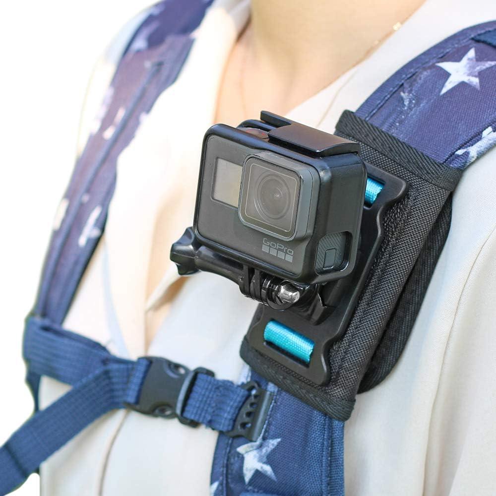 Soporte para la mochila para GoPro Hero 9/8/7/6/5/4/3 plus