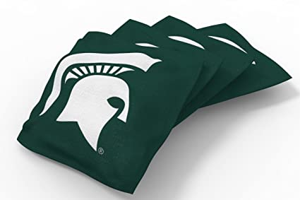 Cool Wild Sports Ncaa College Michigan State Spartans Green Authentic Cornhole Bean Bag Set 4 Pack Dailytribune Chair Design For Home Dailytribuneorg
