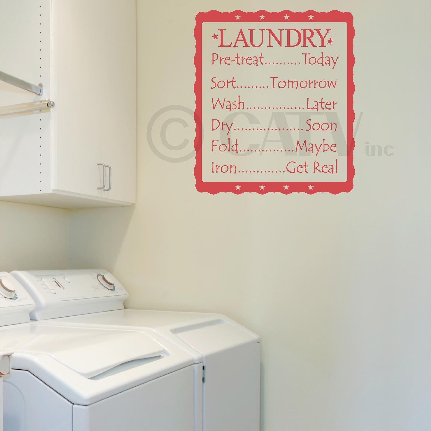 Amazon laundry list pre treatday sortmorrow wash amazon laundry list pre treatday sortmorrow washter dryon foldybe iront real vinyl lettering wall decal 165w x 20h amipublicfo Gallery