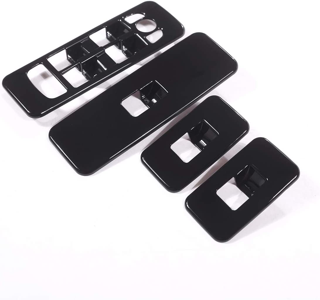 ABS Black Inner Door Window Lift Switch Button Frame Trim For Discovery Sport 2015-2019