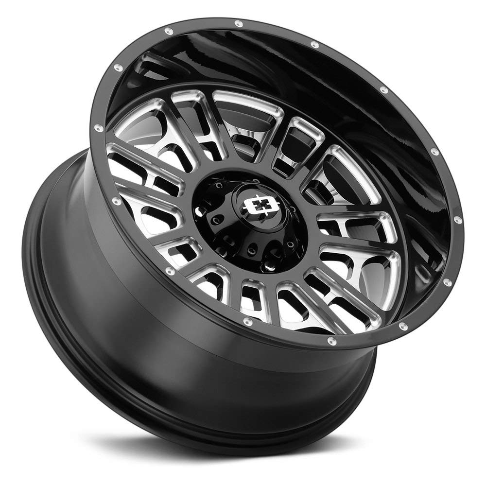 40mm Black//Machined Wheel Rim Helo HE907 18x8 5x114.3
