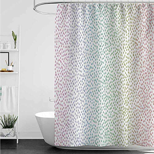 Shower Curtains Solid Color Colorful,Gradient Downpour Figure in Large Spectrum Spotted Little Liquids Wet Work of Art,Multicolor W72 x L72,Shower Curtain for Shower stall