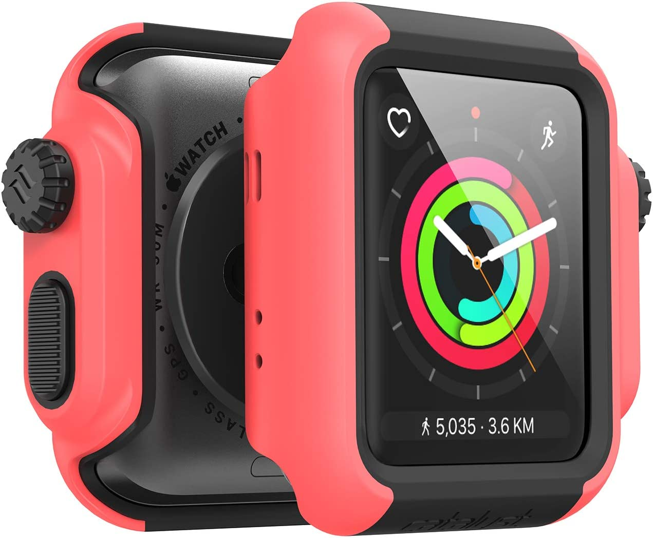 Designed for Apple Watch Impact Case 38mm Series 3 & 2 Rugged Protective Case by Catalyst, Drop Proof Shock Proof Impact Resistant Designed for Apple Watch Case, Coral