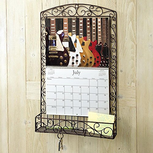 Bronze Swirls Metal Calendar Holder - Holds 12