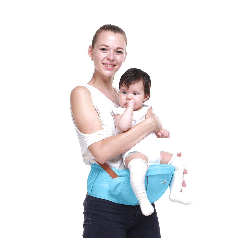 SONARIN Portabebés Premium Hipseat Baby Carrier, Cinturón Seguro y Cómodo, Tamaño Gratuito, Cinturón Carrier, Frontal, 4 Posiciones de Carrying,100% GARANTIA y ENTREGA GRATUITA, Regalo Ideal(Azul Claro) ec1935