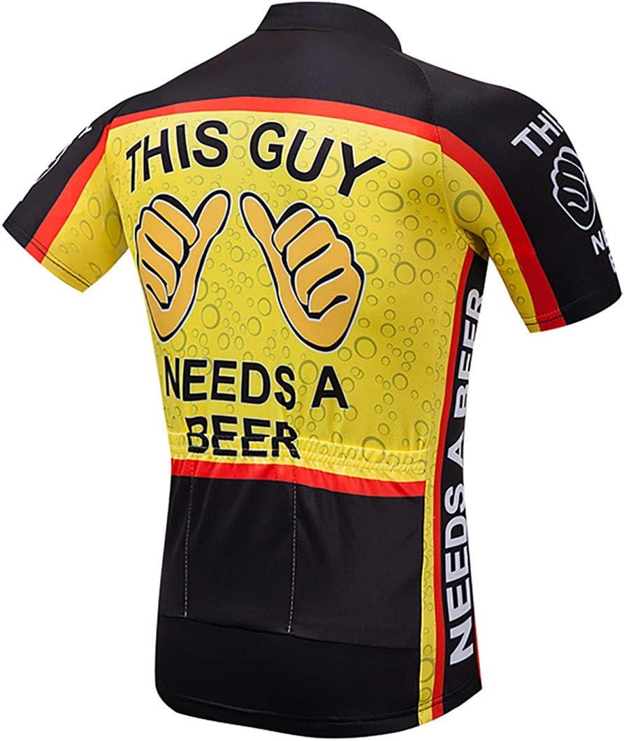 Top de Ciclismo Camiseta Corta Jerseys de Ciclismo Moxilyn Camisetas de Ciclismo para Hombre Ropa de Ciclismo Transpirable y Que Absorbe El Sudor Mountain Bike//MTB Shirt Secado R/ápido