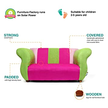 KEET Fancy Kids Sofa, Pink/Green by Keet: Amazon.es: Bebé