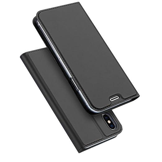 3 opinioni per iPhone X Custodia Pelle Liscia Tocco Slim Copertina iPhone X Flip Case Custodia