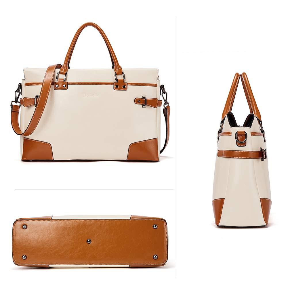 BOSTANTEN Leather Briefcase Messenger Satchel Bags Laptop Handbags for Women by BOSTANTEN (Image #4)