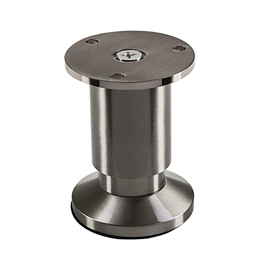 100 mm SO-TECH/® Pata de Mueble ALPHA Alto ajustable Aspecto de Acero fino cepillado Capacidad de Carga hasta 250 kg Alto
